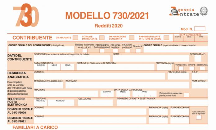 Dichiarazione dei redditi 2021 modello 730 e novità
